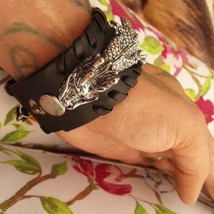 Leather dragon cuff
